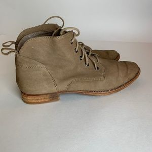 Sam Edelman Mare Leather Tan Lace Up Boots